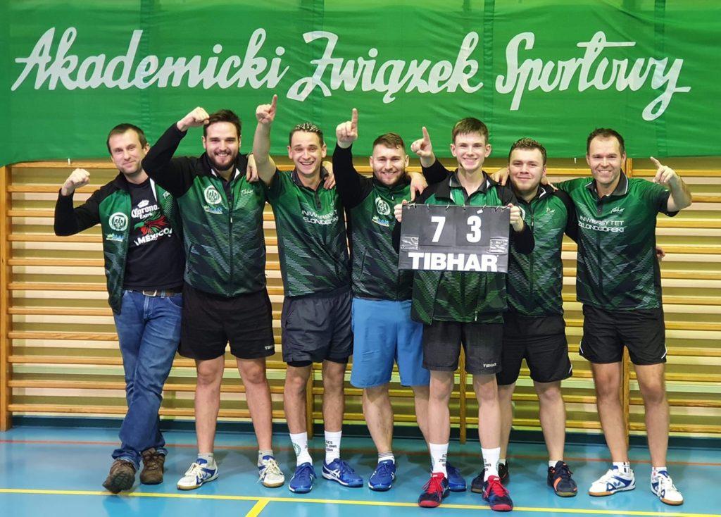 Tenisiści stołowi AZS Uniwersytetu Zielonogórskiego